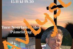 Gudstjenesten søndag 15.11 er avlyst