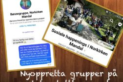 Nye grupper på sosiale medier for de som er med i Norkirken Mandal