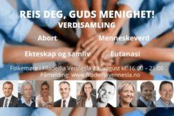 Verdisamling i Vennesla søndag 29.08
